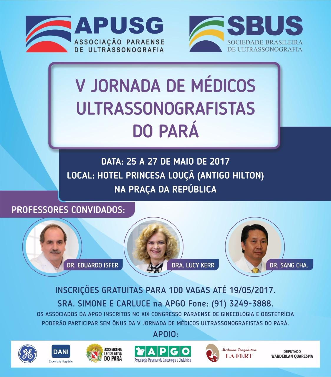 Poster - V Jornada de Médicos Ultrassonografistas do Pará - Dra. Lucy Kerr